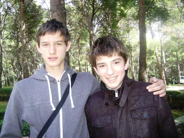 Alen Livojević i Mile Biljanović, dječak koji je utjelovio lik Šegrta Hlapića